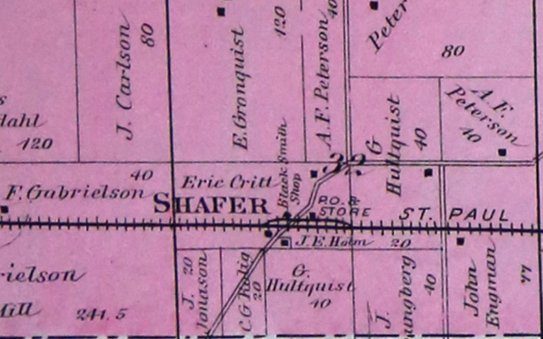 1888 Foote Plat - Shafer City
