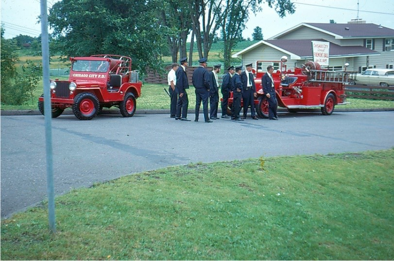 Fire Dept 1963 preparing for parade