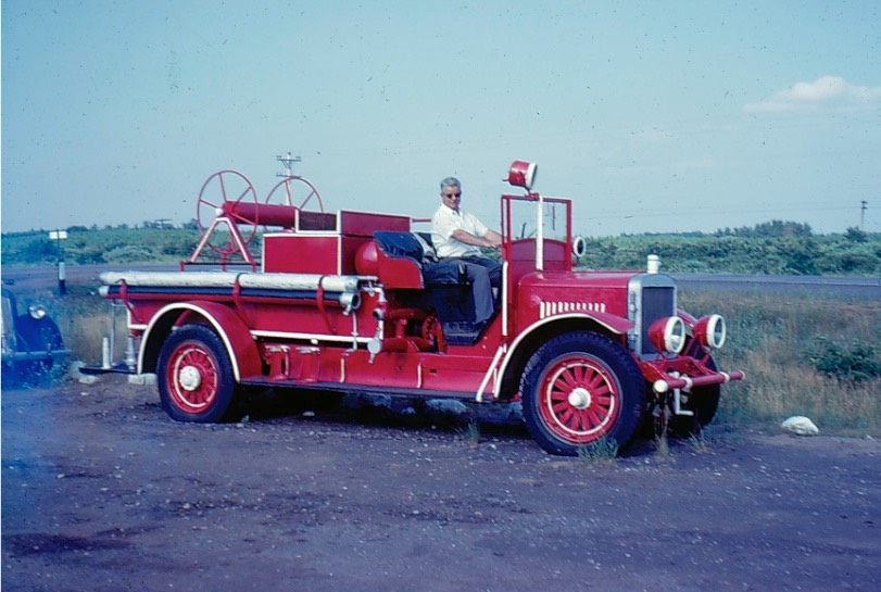 Fire Dept 1966 Chief Harlan Henrickson